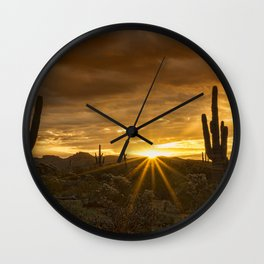A Southwestern Sunrise Wall Clock