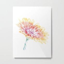 Blooming Daisy Abstract Metal Print