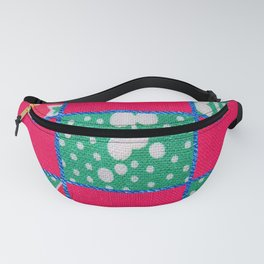 Pink & Teal print Fanny Pack