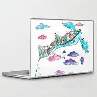 rio de janeiro Laptop & iPad Skins featuring Flying Rio de Janeiro by Marina Papi