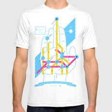 Michigan Highway System MEDIUM Mens Fitted Tee White