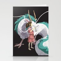 spirited away Stationery Cards featuring Spirited Away by Sharna Myers