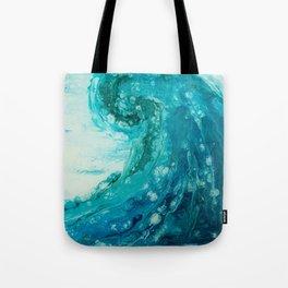 Crashing Waves Resin Painting Tote Bag