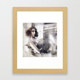 Memory is an Echo Framed Art Print