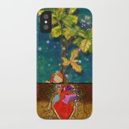even though i buried my heart, my love has blossomed iPhone Case