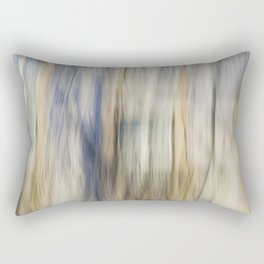 Soft Blue and Gold Abstract Rectangular Pillow