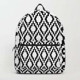 Black pattern Backpack