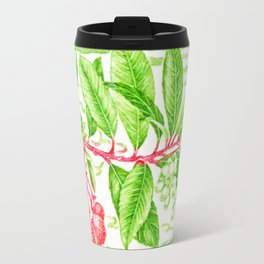 Branch of a Strawberry tree in Autumn Travel Mug