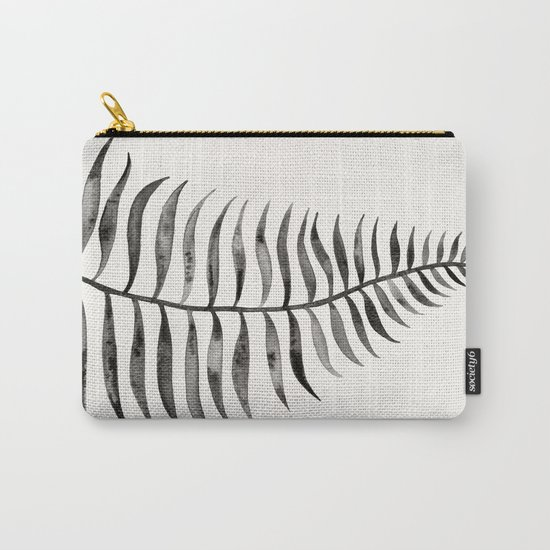 Black Palm Leaf Carry-All Pouch