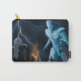 Viking woman against the Ice Giant Carry-All Pouch