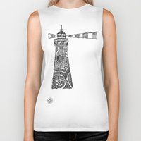 lighthouse Biker Tanks featuring Lighthouse by Hinterlund