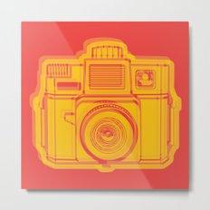 I Still Shoot Film Holga Logo - Reversed Yellow & Red Metal Print