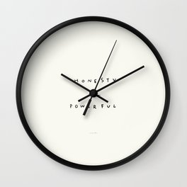 Honesty Is Powerful Wall Clock
