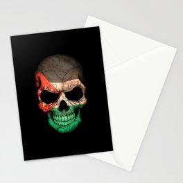 Dark Skull with Flag of Jordan Stationery Cards