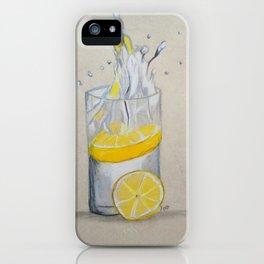 Lemon in water iPhone Case