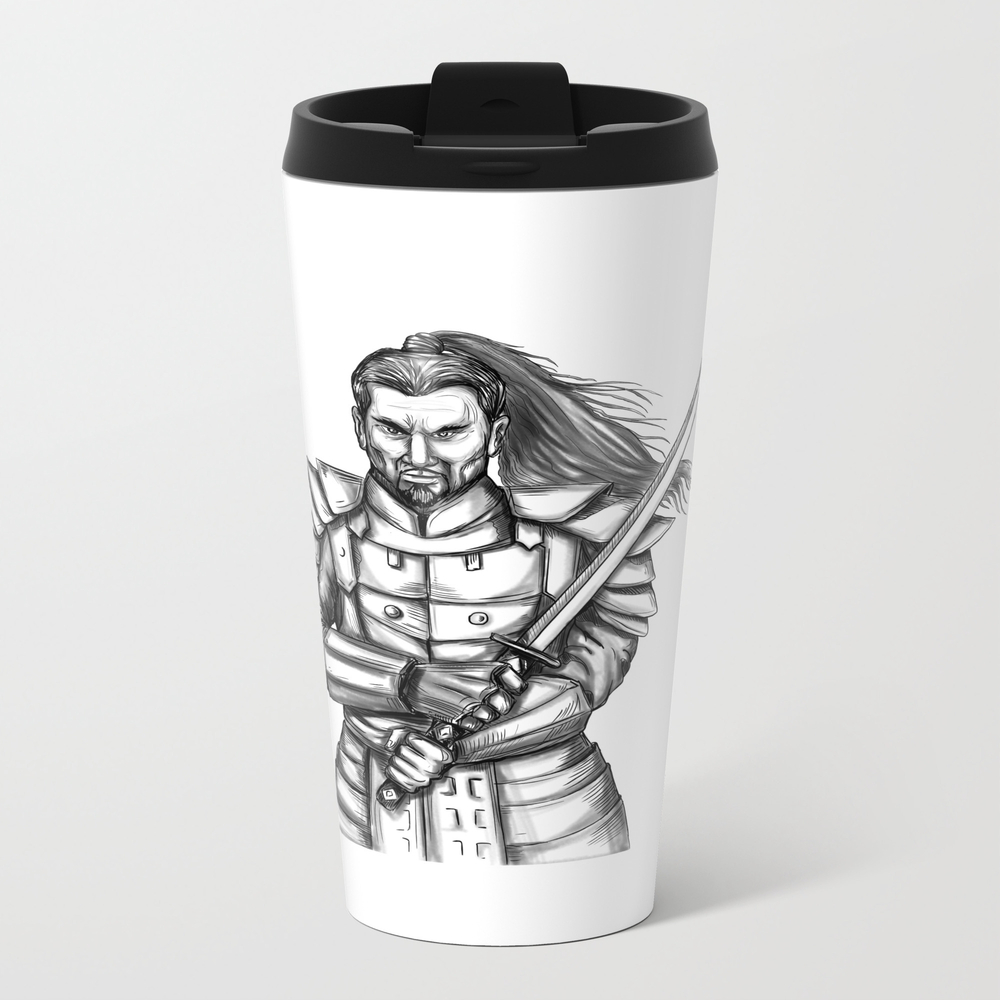 Samurai Katana Sword Tattoo Travel Mug TRM7875303