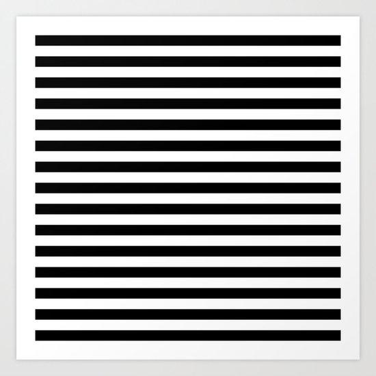 Black White Stripes Art Print