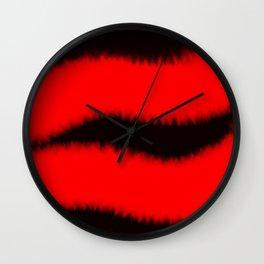 Furry Hot Lips Wall Clock