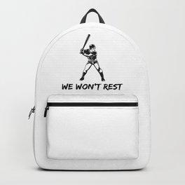 We won't rest Backpack