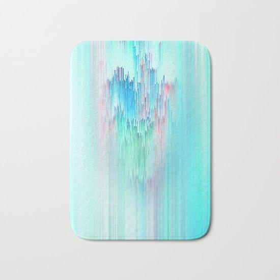 Rainbow Cascade Glitch Bath Mat