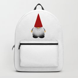 Christmas cute gnome with long white beard and red hat Backpack