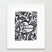 valentines Framed Art Prints featuring Valentines by Lonica Photography & Poly Designs