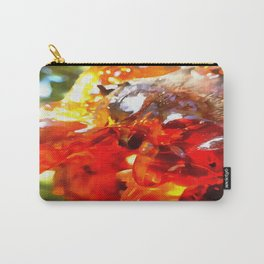Apricot Resin Abstract Carry-All Pouch