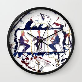 MOZART:  Divertimento for three Basset Horns     by Kay Lipton Wall Clock