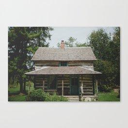Rustic Log Cabin Canvas Print