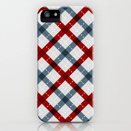 Colorful Geometric Strips Pattern - Kitchen Napkin Style iPhone Case