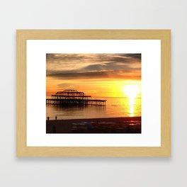West Pier at Sunset Framed Art Print