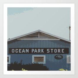 Ocean Park Store Art Print