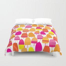 Pink Lobster Buoy Pattern Duvet Cover