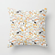 Corgilicious Corgi Doodle Throw Pillow