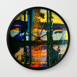 Easel Abstract 4 Wall Clock