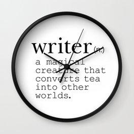 Writer Definition Converts Tea Wall Clock