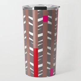 TRIBAL CHEVRON | mauve red Travel Mug