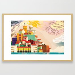 Lisbon Tourism Framed Art Print