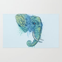 Elephant Portrait Rug