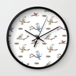 Spring Birds Wall Clock