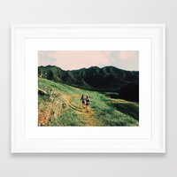 the mountains are calling Framed Art Prints featuring Calling Mountains by Caleb Gaskins