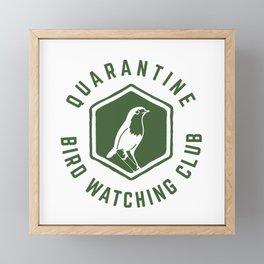 Quarantine Bird Watching Club Framed Mini Art Print