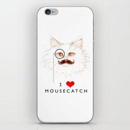 I Love Mousecatch iPhone Skin