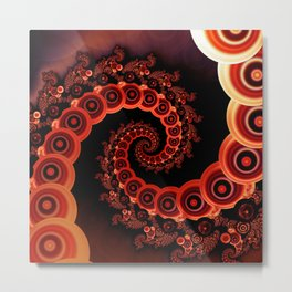 Red Octopus Tentacles for a Chinese Lantern Festival Metal Print