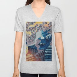 Complicated, Women Nature, oil painting by Luna Smith | LuArt Gallery Unisex V-Neck