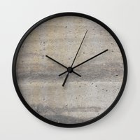 concrete Wall Clocks featuring Concrete by Patterns and Textures