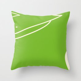 Footbal field Throw Pillow