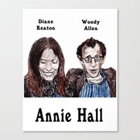 annie hall Canvas Prints featuring Annie Hall by AdrockHoward