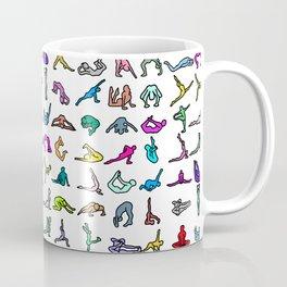 Rainbow Yoga Poses Coffee Mug