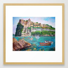 The Aragonese Castle of Ischia Framed Art Print